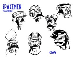 Mustache Spacemen 2 by Kravenous