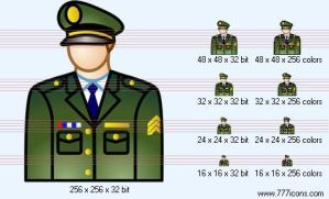 Army officer Icon by security-icon-set