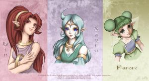 Collab- Three Goddesses by luizamoony
