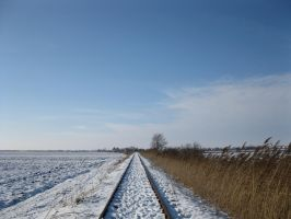 Autumn-winter railway 1 by Linden-Oak