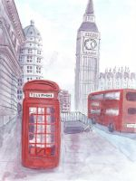 London: A Watercolour by imfromdunman