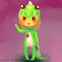 Dino Girl Comission by Chibbur