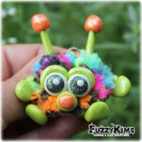 Polymer Clay Monster by KIMMIESCLAYKREATIONS