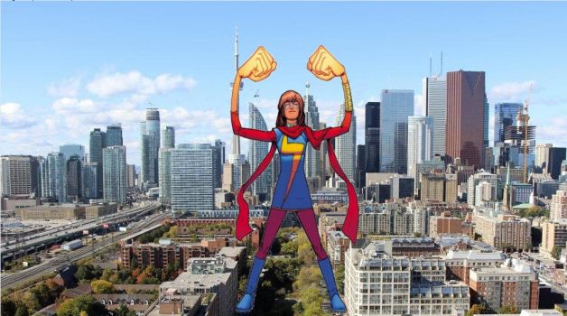 Attack of the 50ft Ms Marvel by demonmanofdarkness