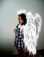 girl with angel wings by levevani