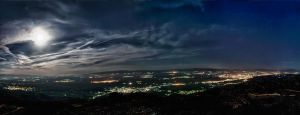 Champaign of Serres, Night Panorama by GiannisParaschou