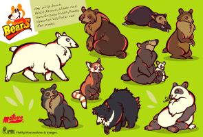 Bears by mofuwa