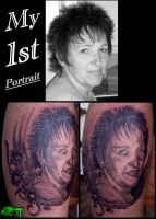 my 1st portrait by CAMOSartTATTOO