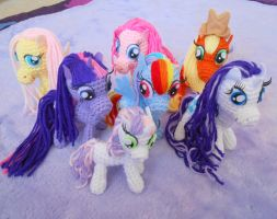 My Little Pony Amigurumi Collection 8/2012 by MadameWario