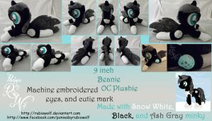 9 inch Moon OC Beanie Plushie ::Commission:: by RubioWolf