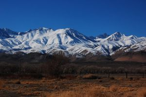snowy mountains by agent-kstock