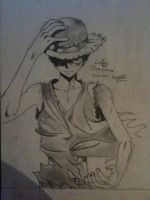 Luffy Drawing- One Piece by UNSJN