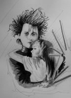 Edward Scissorhands by o0gie