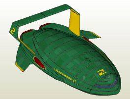 Thunderbird 2 Paper Model by Master-Bruce