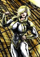 Powergirl : Glorious in gold by adamantis