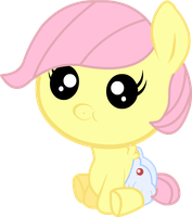 Baby Fluttershy by TwitchyTail