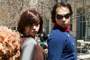 Blue Steel: Squirrel Girl and Bucky by BevanMaria