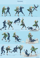 Infighting _ Tsunade VS Kakashi by kanzzzaki