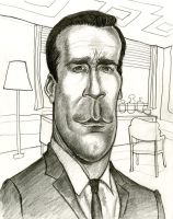 Jon Hamm as Don Draper in Mad Men by Caricature80