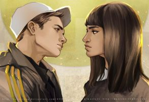 Kingsman --- Eggsy and Gazelle by maorenc
