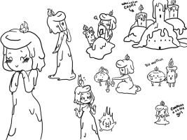 Sketch Dump- Princess Candle Wax by Shellybelly95