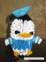 3D Origami Donald Duck by jchau