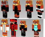 Fiona the fox minecraft skin pack by frostbite15071