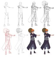 Step by step: Yahiko by Johnny-Wolf