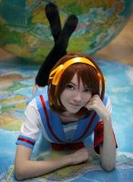 The Melancholy of Haruhi Suzumiya - Haruhi cosplay by Shredinger-Cat