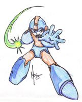 Charge that Buster Mega Man by WesXComiX