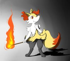 Braixen (Request) by Theoluma
