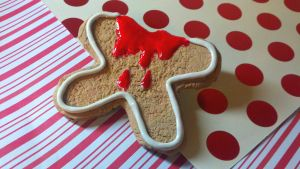 Dead GingerBread Man by kitty25kit