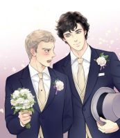 Sherlock - Wedding Day by Baicoco