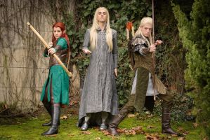 Tauriel/Thranduil/Legolas - The Hobbit by VeroEs