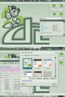 deviantArt Themed Desktop by theRealPadster