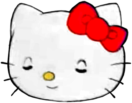Hello Kitty with Eyes Closed/Smiling (full-lidded) by MalekMasoud