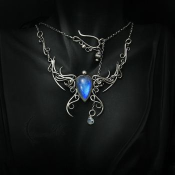 MESSAQTULH - silver and moonstone. by LUNARIEEN
