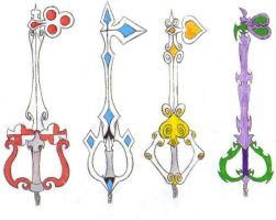 Knight Keyblades by narutobakasan