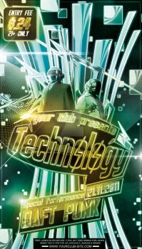 Technology Party Flyer Template by si-ajidz
