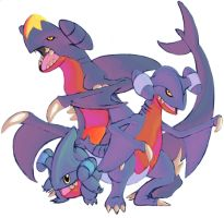 Garchomp, Gible and Gabite