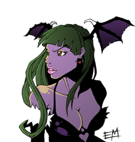 Morrigan Aensland by EdMoffatt