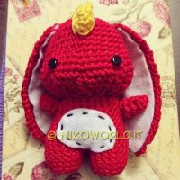Handmade Amigurumi Red Dragon by HanaDesign1