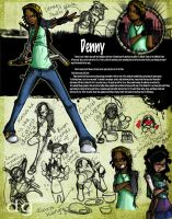 Denny: Character Design by DG-ART85