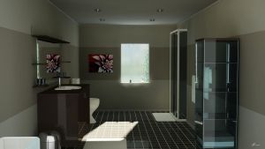 bathroom midday by vanacal