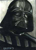 vader sketch card by charles-hall