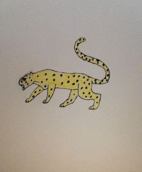 cheetah drawing by GwenGotGame