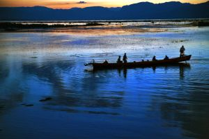 Sunset Over Inle Lake 2 by CitizenFresh