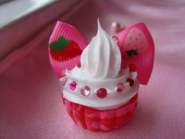 AT: Strawberry Bow Cupcake by Lustfulwish