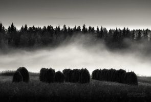 Haystacks In The Mist by JoniNiemela