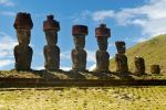 Moai at Anakena Beach by wildplaces